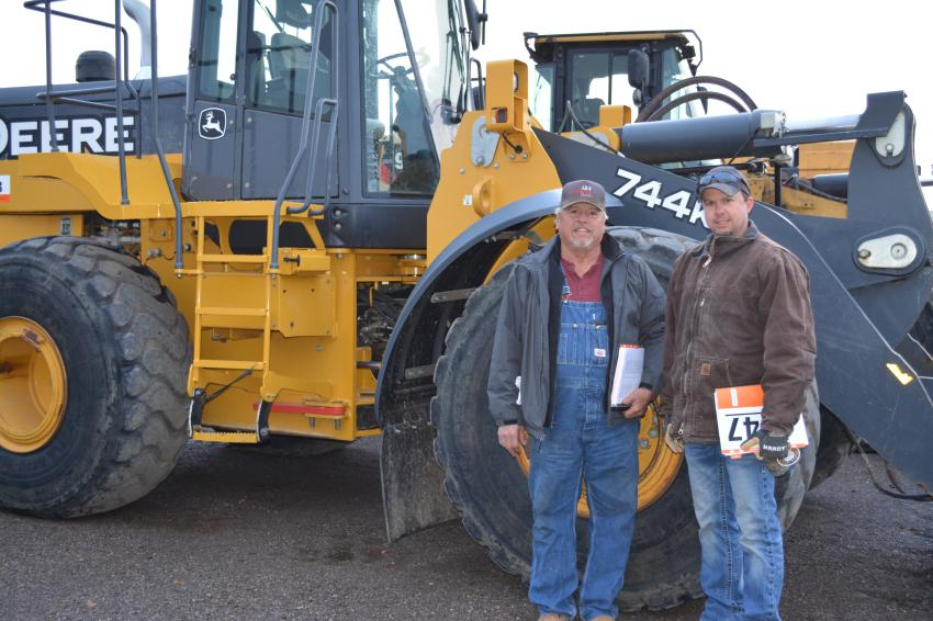 Larry (L) and Derrick Musgrove of Oklahoma Trucks and Equipment were buying trucks, trailers and earthmoving equipment for their Lawton, Okla.-based company.