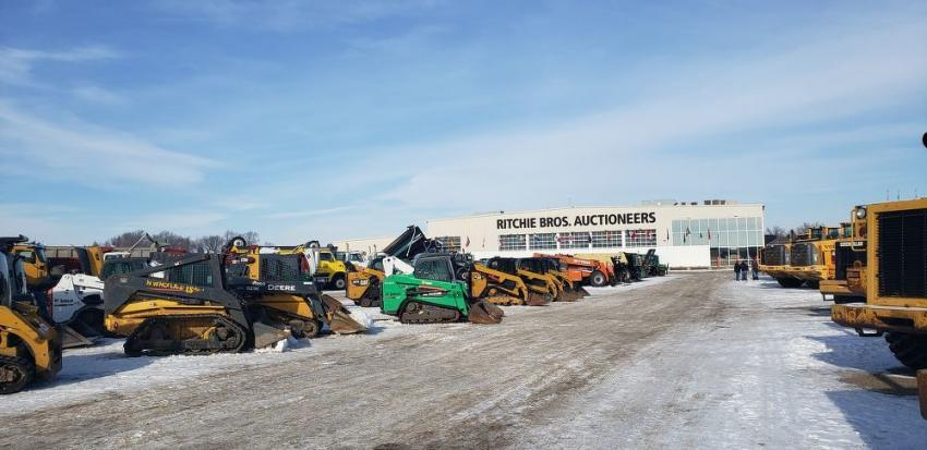A wide variety of equipment awaited buyers at Ritchie Bros.' Minneapolis sale.