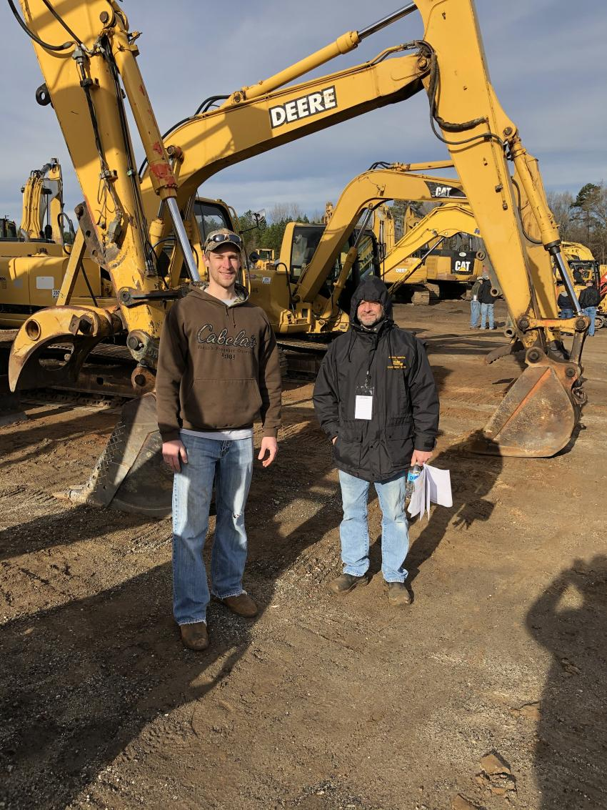 Christian and Steve Griffin of Griffin Equipment Sales in Laurens, S.C., came looking to get a deal.