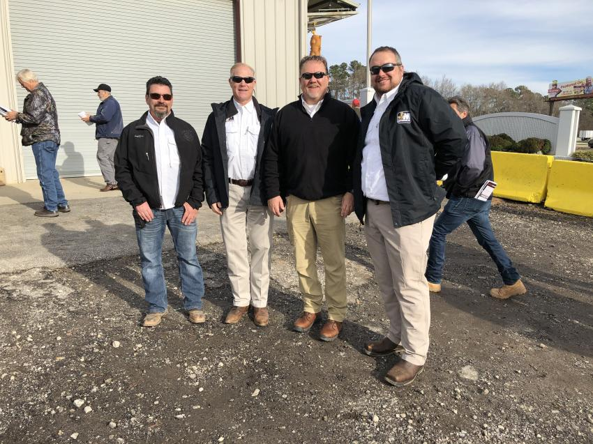 Part of the Jeff Martin Auctioneers team (L-R) are John Murra, Todd Nelson, Steve Aaron and Daryl Houle.