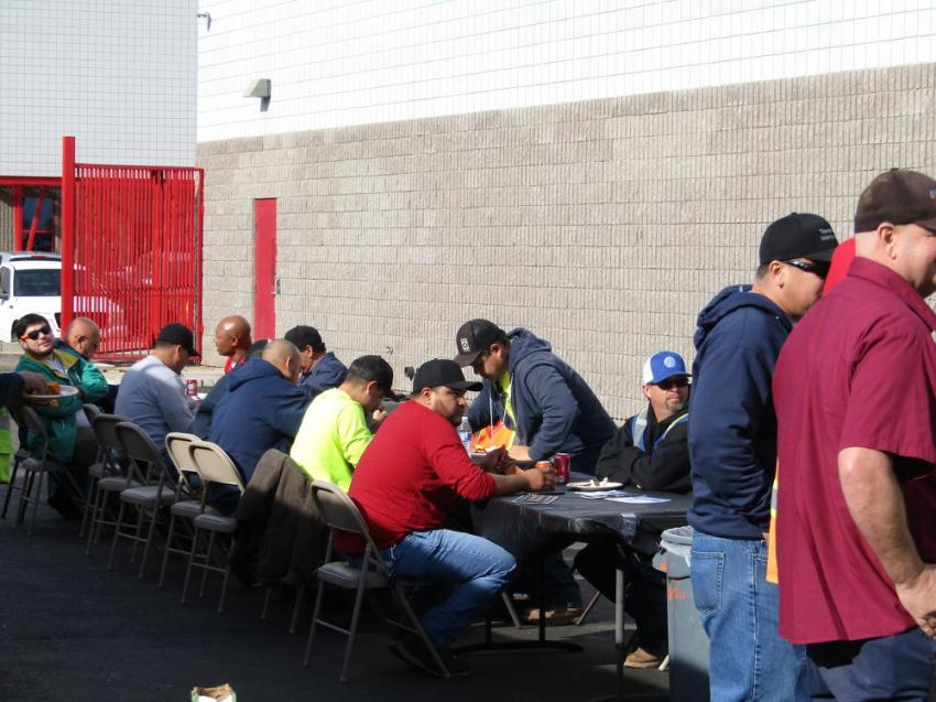 Guests enjoyed barbecue chicken, burgers and hot dogs prepared on site by Fisher's Tools staff.