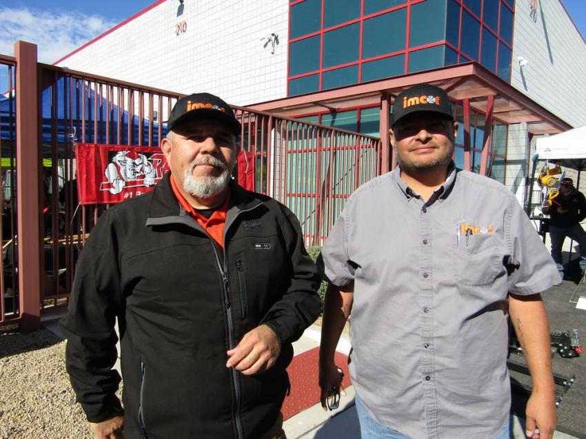 Mario Zamora (L), superintendent of Interstate Mechanical Corporation (Imcor), and Ray Wright, project manager, have been loyal customers for more than 25 years.