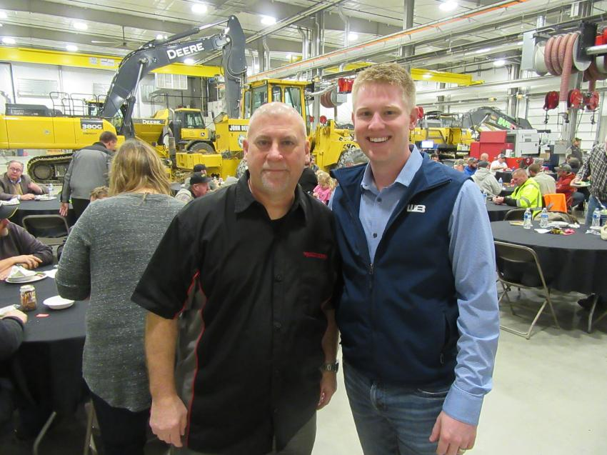 Russ Woelke (L), regional sales manager of Towmaster Trailer, joined Neil Recker, regional account manager of Werk-Brau, at Murphy Tractor & Equipment's Brunswick Open House.