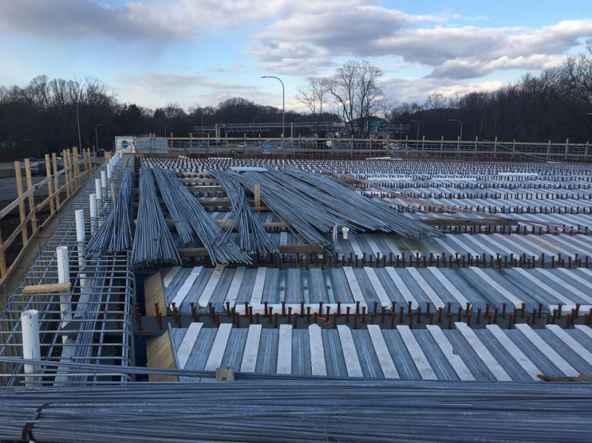 Concrete placement is scheduled for the Centerville Road Bridge deck in Warwick.