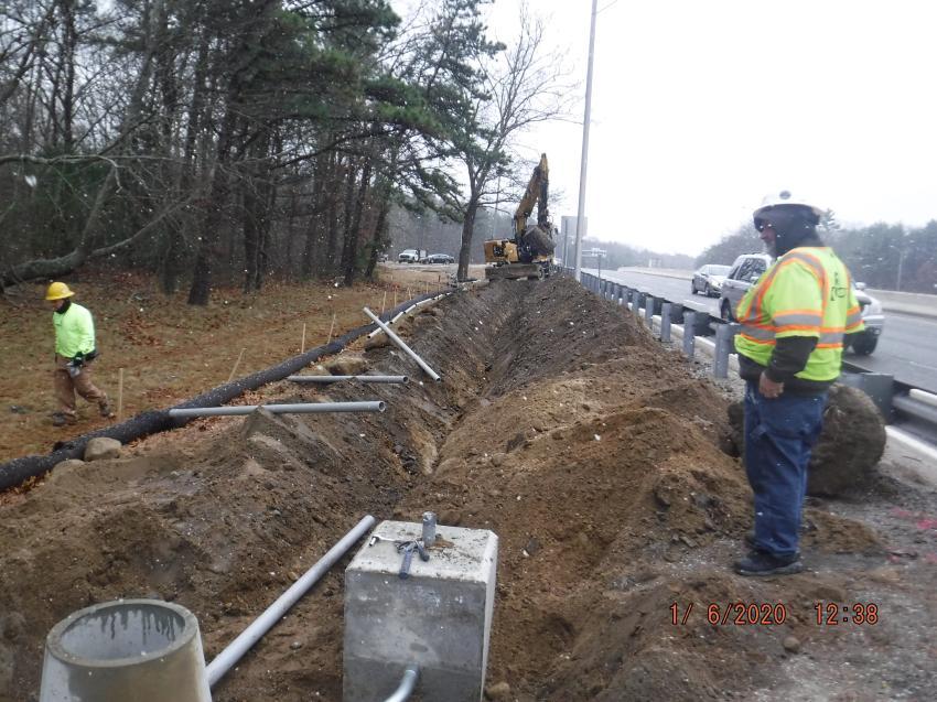 Highway lighting and underground conduit installation is scheduled on the Kingston Road Bridge in Richmond.
