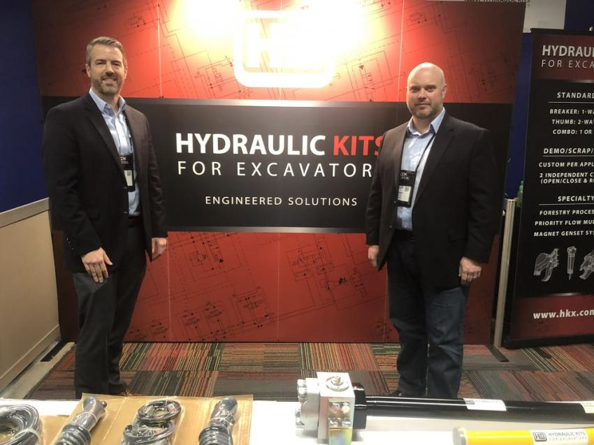 Jon Casten (L), general manager, and Robert Burnett, regional account manager, of Hydraulic Kits for Excavators.