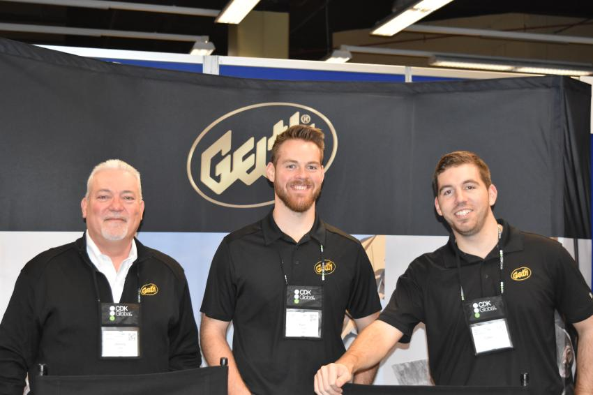 (L-R): Johnny Demary, Kyle Lundeen and Connor Gans all district sales managers of Geith, a quality name in attachments for more than 40 years.