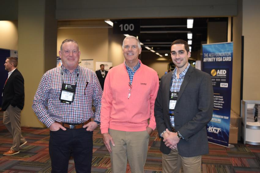 (L-R): Scott Dubois, Gerard Calamari and Zack Manz, all of Contractors Sales Co. in Albany, N.Y., are collecting good information at the AED Summit in Chicago. Contractors Sales Co. is celebrating 100 years in business in 2020.