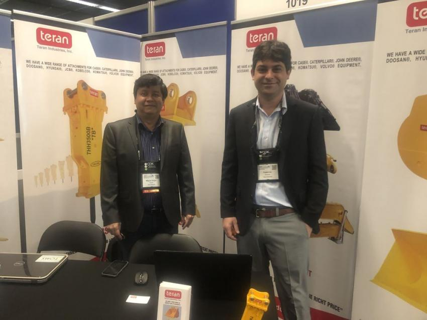 The Teran Industries Inc. booth was staffed by Miguel Escoto (L) and Federico Sanchez.