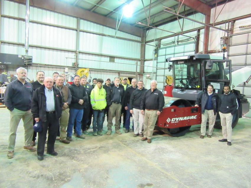Construction Machinery Company personnel, along with area contractors, attended Dynapac's Seismic Tour held at the dealership's Jefferson, Ind., branch.
