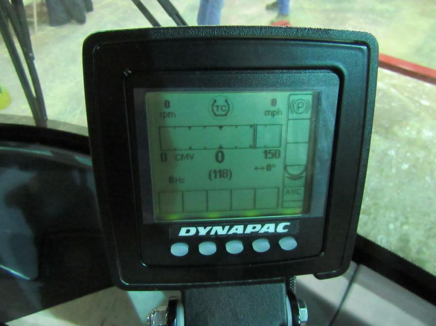 A cab-mounted display provides constant feedback on soil characteristics and compaction levels to the operator, ensuring maximum performance and efficiency on the job.