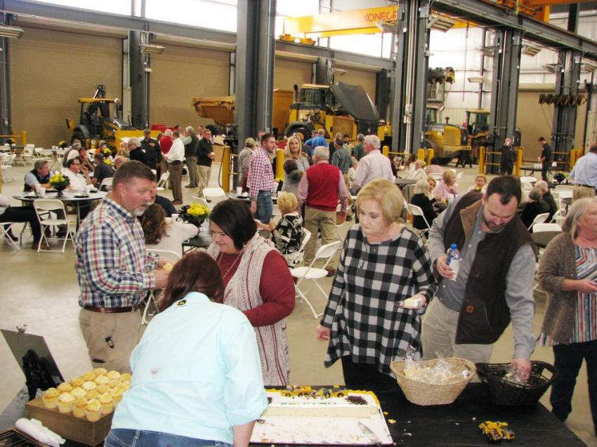 The shop area was cleared out and transformed into a dining area for approximately 200 guests who turned out for the event.