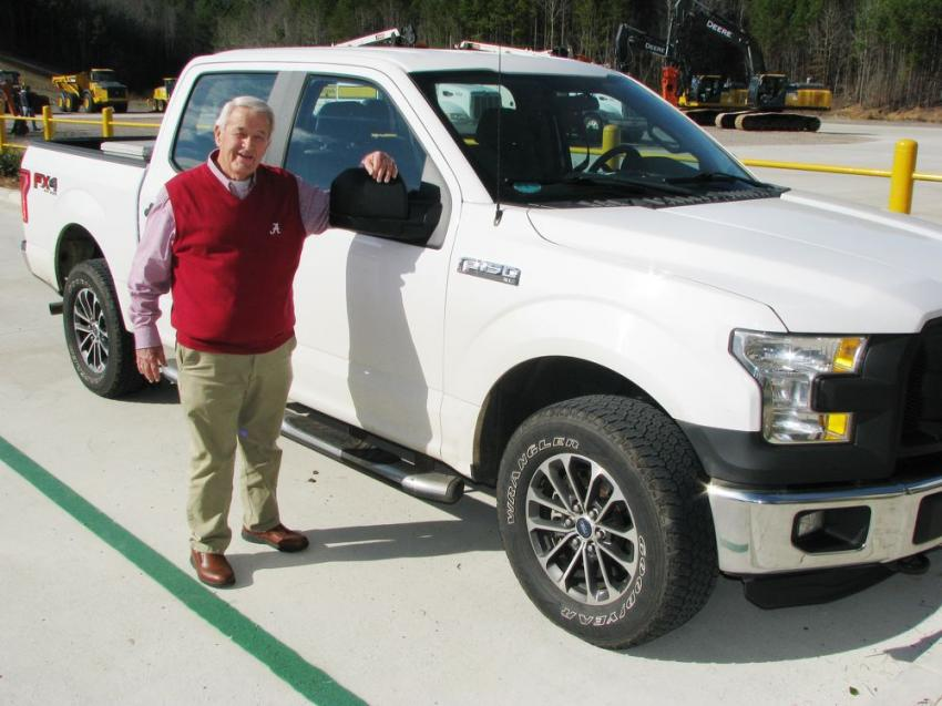 Warrior bought this Ford F150 brand new as a company truck for John Fore back in 2016. They signed over the title to him as a special presentation on Jan. 17, 2020.