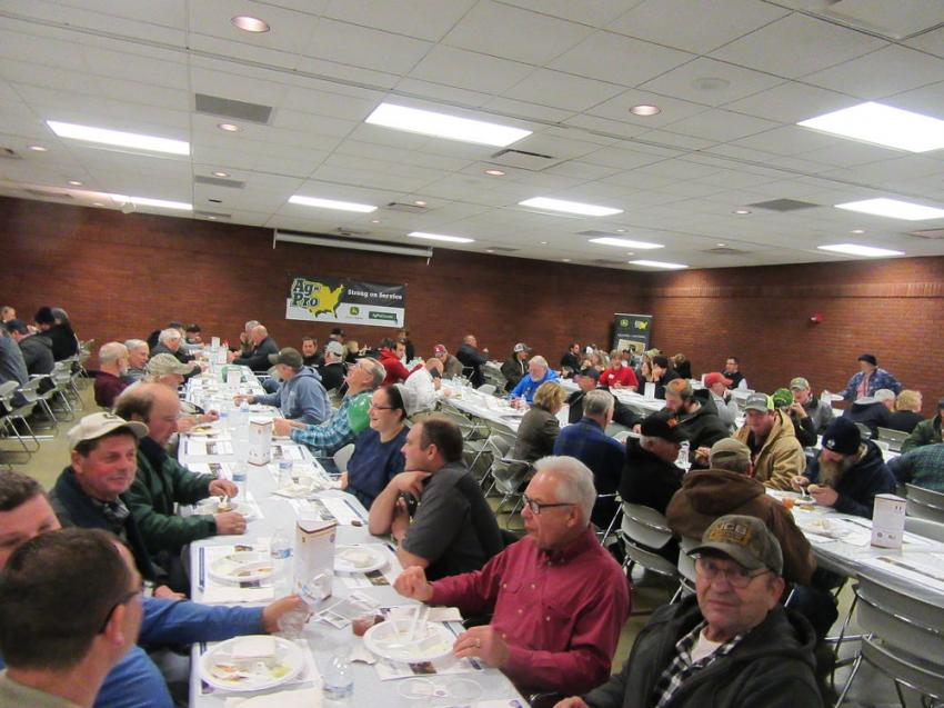 Attendees of Ag-Pro's Annual Expo enjoy a hearty lunch.