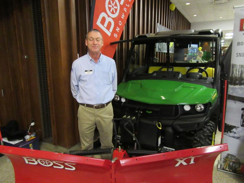 Boss Snowplow regional sales manager, Rick Knuth, was on hand to discuss snow and ice maintenance equipment at the Expo.
