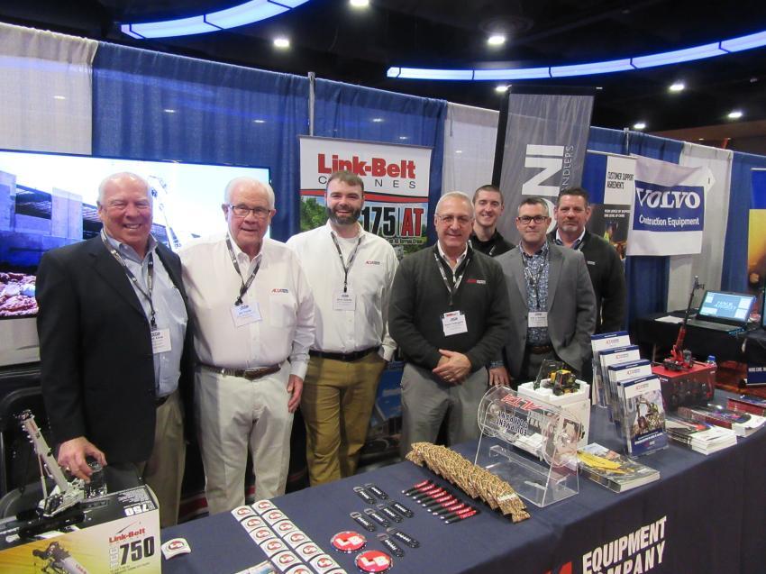 (L-R): Mike Kline of Consumers Concrete Corporation joined Alta Equipment Company's Bill Theile, Brian Gillette, Dean Pellegata, Josh DeYonker, Rob O'Rourke and Dan Campo at the Alta Equipment Company booth.