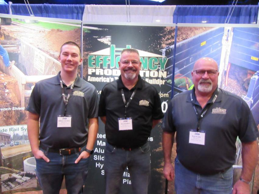 (L-R): Efficiency Production's William Sanders, Jim Hamilton and Rod Austin were ready to discuss trench safety at the show.