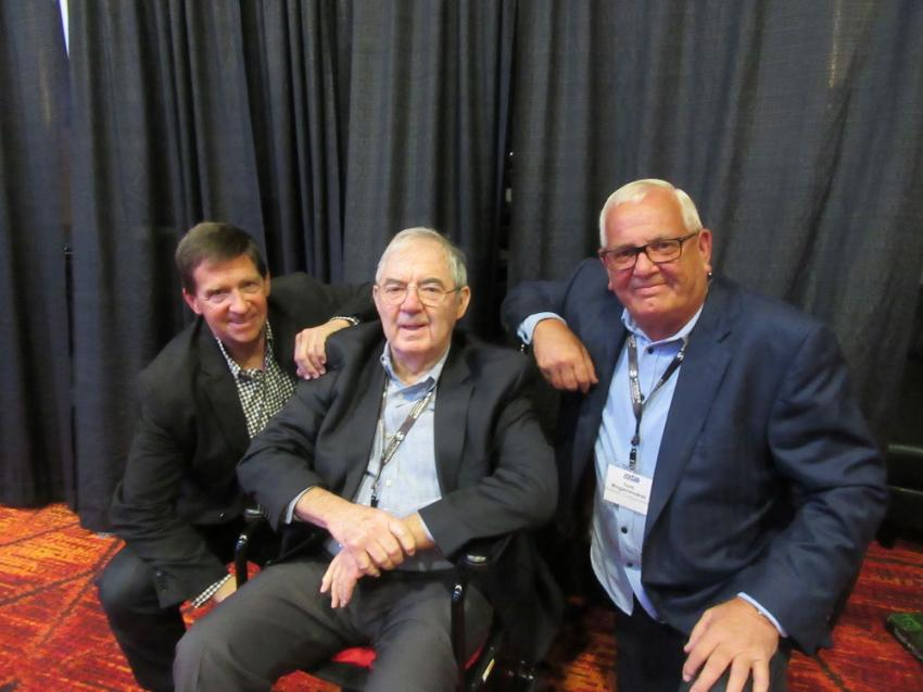 (L-R): In recognition of their lifelong commitment and contributions to Michigan's infrastructure, Mike Donohoe, Bruce Lowing and Tom Wagonmaker were named MITA Honorary Members at the event.
