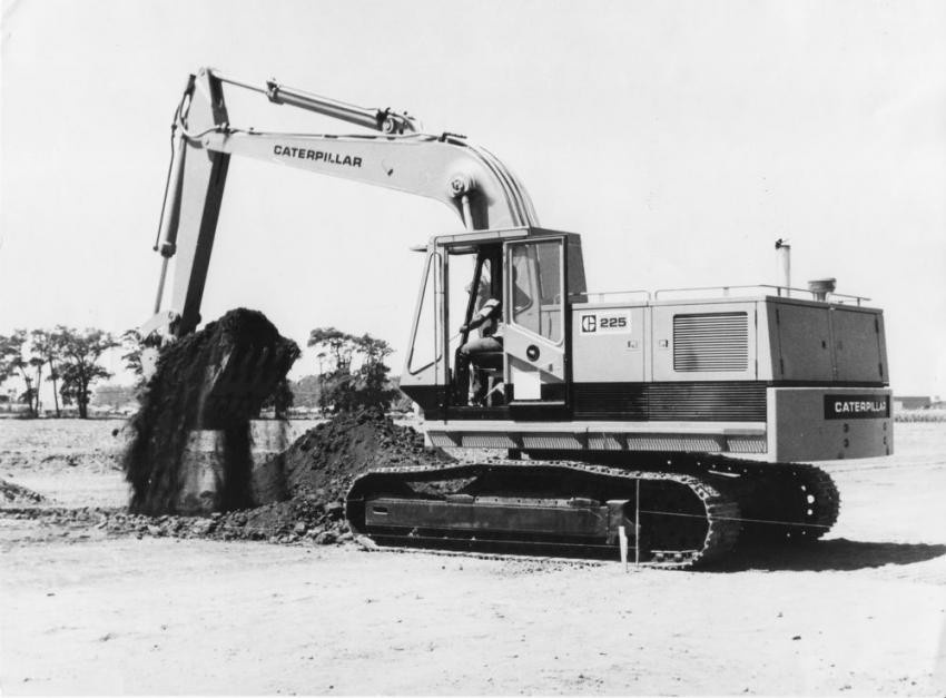 This Cat 225 is one of the first built, in 1972.