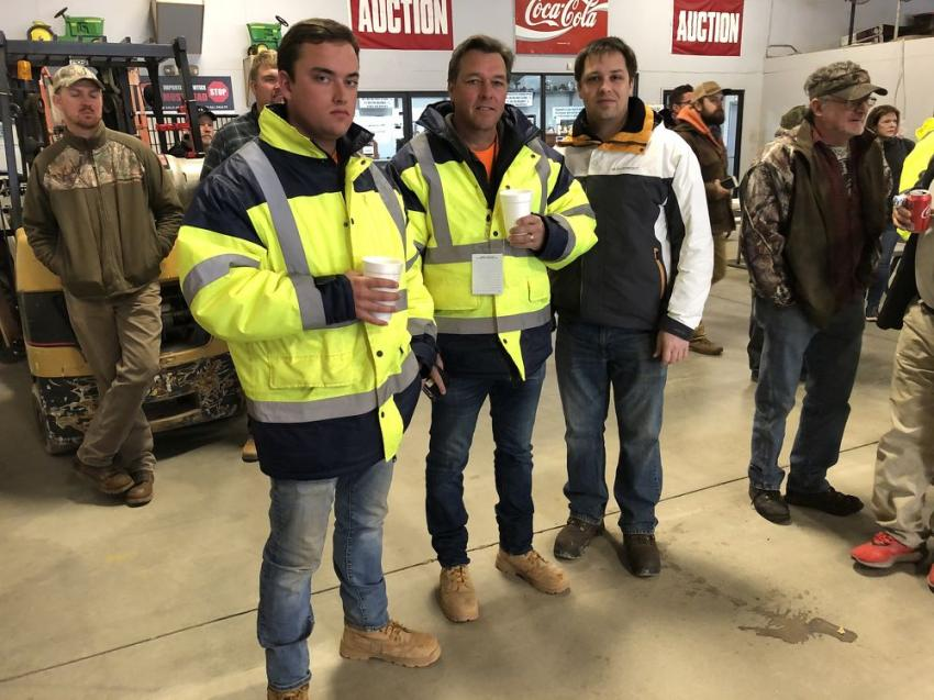Elliott, Dewayne and Alex Pelfrey, all of New Century Construction in Senneca, S.C. They are in the demolition business and were looking for dozers and excavators.