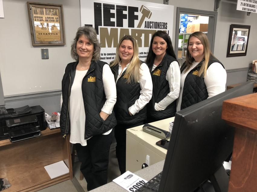 The ladies who help with registration and answer your questions (L-R) are Jami Rogers, Tia Thomas, Brittney Gentry and Cyndi Waller.