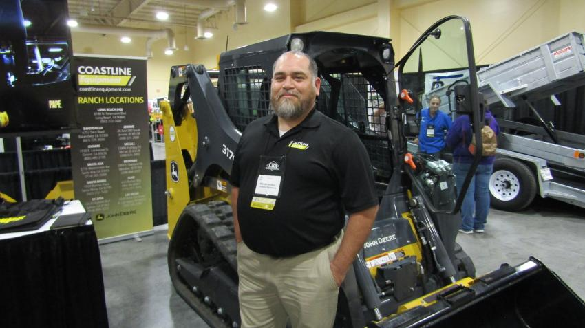 The John Deere 317G compact track loader, known for its strength and reliability in the rental markets, is represented by Mitchell Apodoca of Coastline Equipment.