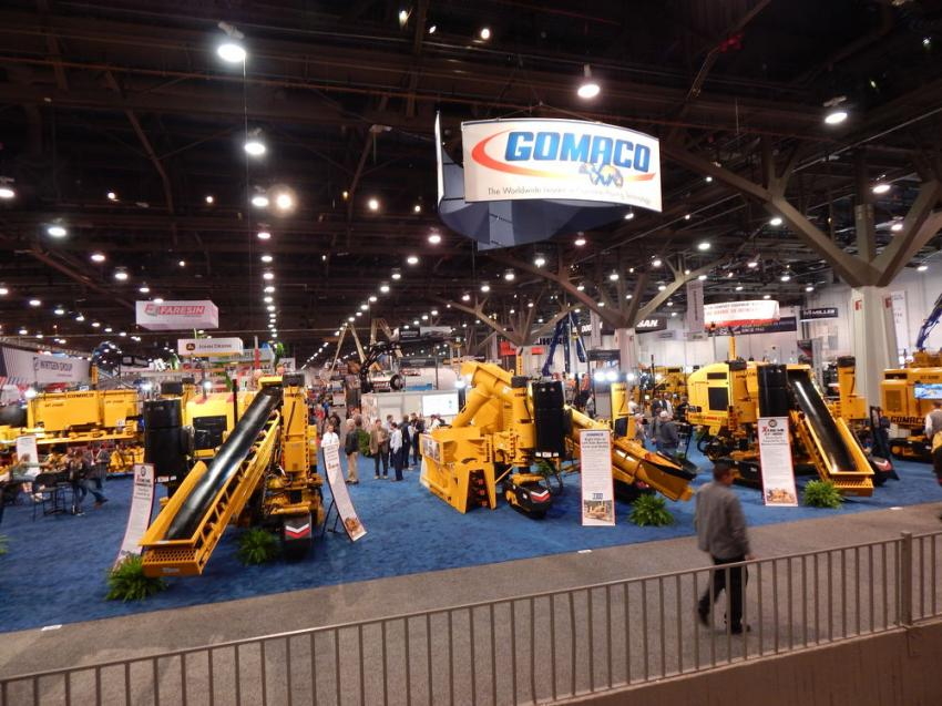 The GOMACO booth at World of Concrete was one of the largest booths at the show.