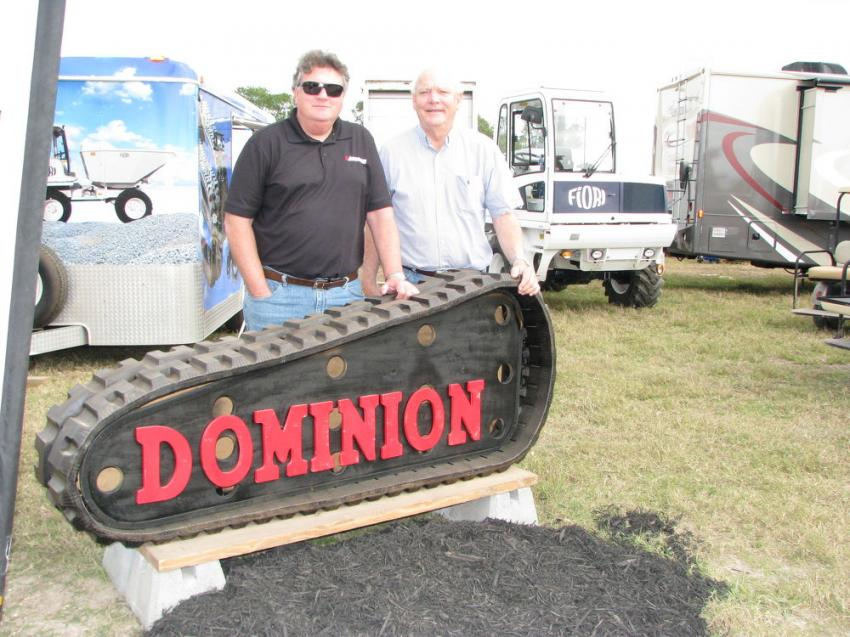 Every year at the Lyon Auction, Ken Byrd (L) and John Lide of Dominion Equipment Parts/Morooka USA have an absolutely astounding display of machine and parts offerings.