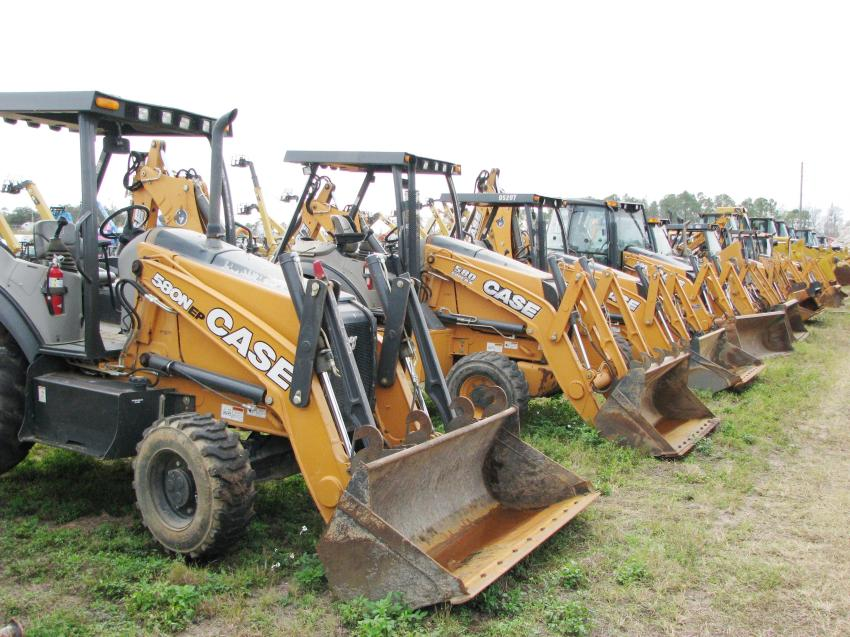 If you were looking for a Case 580 backhoe loader, this was the place to be.