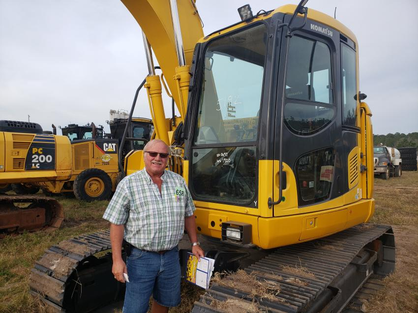 Ron Dunkel of Dunkel Excavating in Petoskey, Mich., was getting ready to inspect the undercarriage of this Komatsu PC138US-10 excavator.