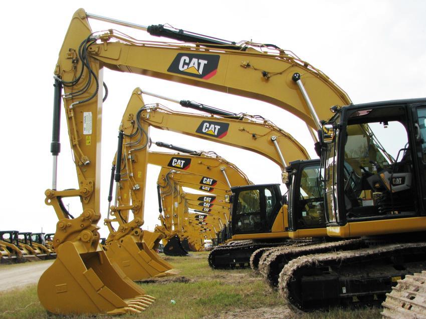 Late model Cat excavators are always plentiful at Alex Lyon's big February auction in Kissimmee, Fla.