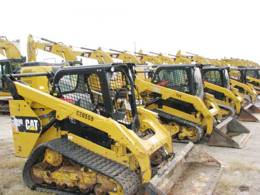 Compact track loaders and excavators were butted up against each other with a phenomenal selection of each.