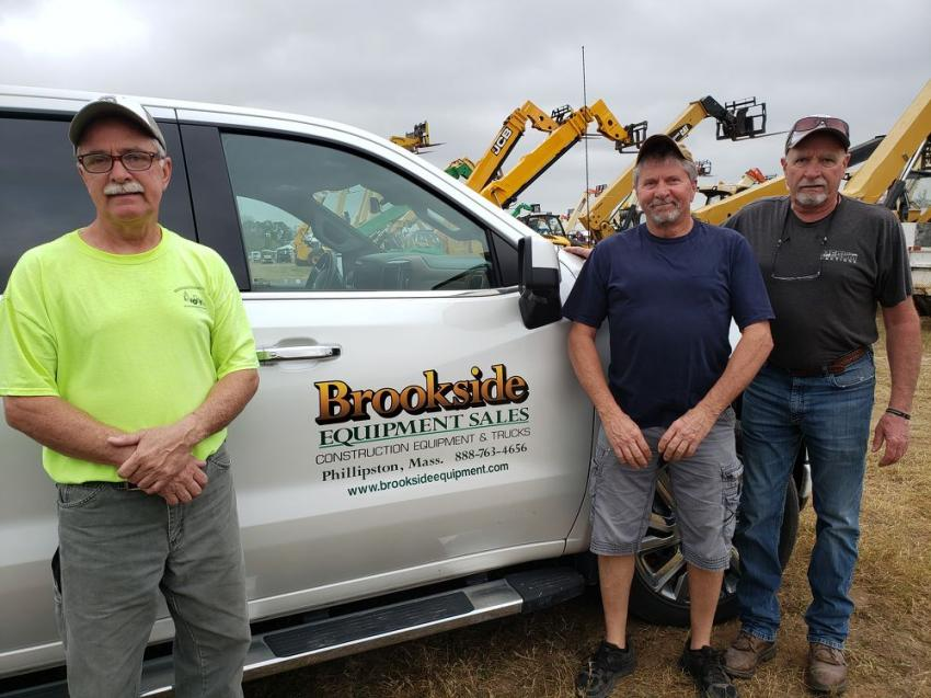 (L-R): Ken, Dan and Roger McHugh, owners of Brookside Equipment Sales in Phillipston, Mass., took their annual road trip to Florida to see what they could buy for their business.