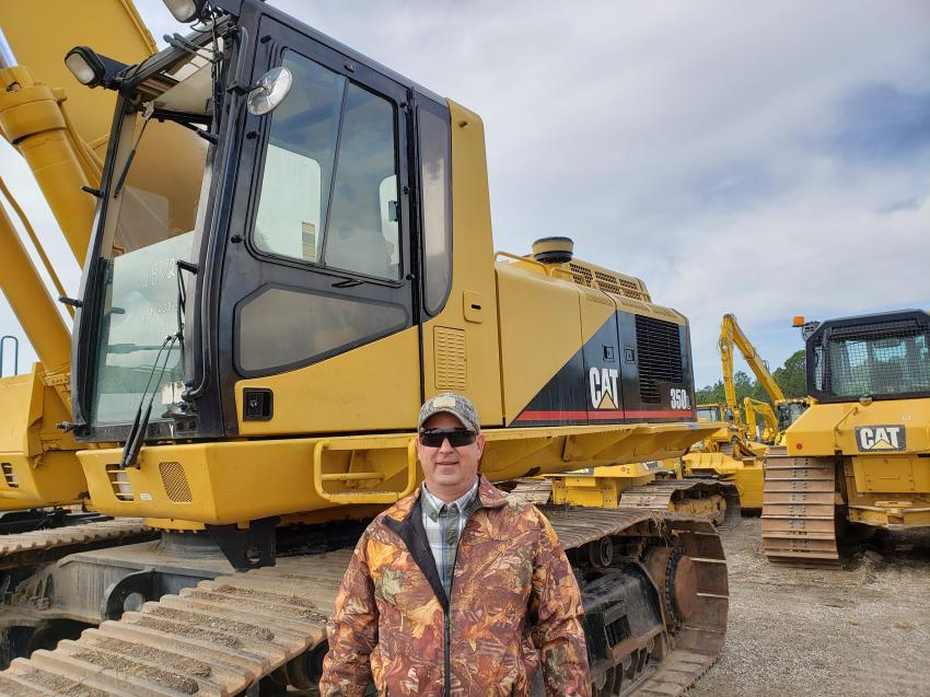 Lenny Zmyewski of Gray's Recycling of Delaware and New Jersey is interested in adding this Cat 350L excavator to his fleet.