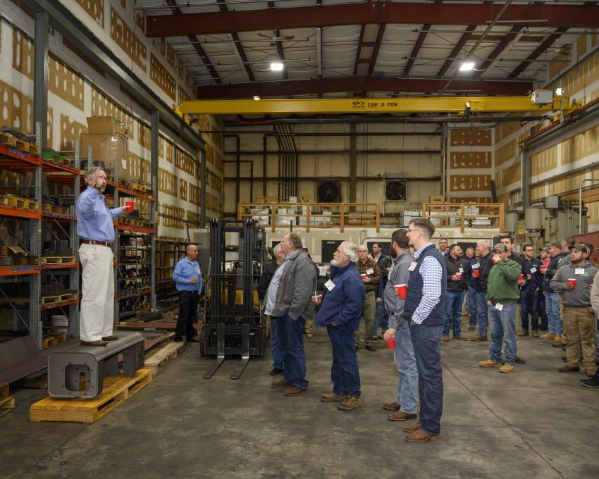 Members of the Utility Contractors Association of Connecticut were given a tour of Indeco's North American headquarters located in Milford, Conn., by President and CEO of Indeco North America, Mike Fischer.