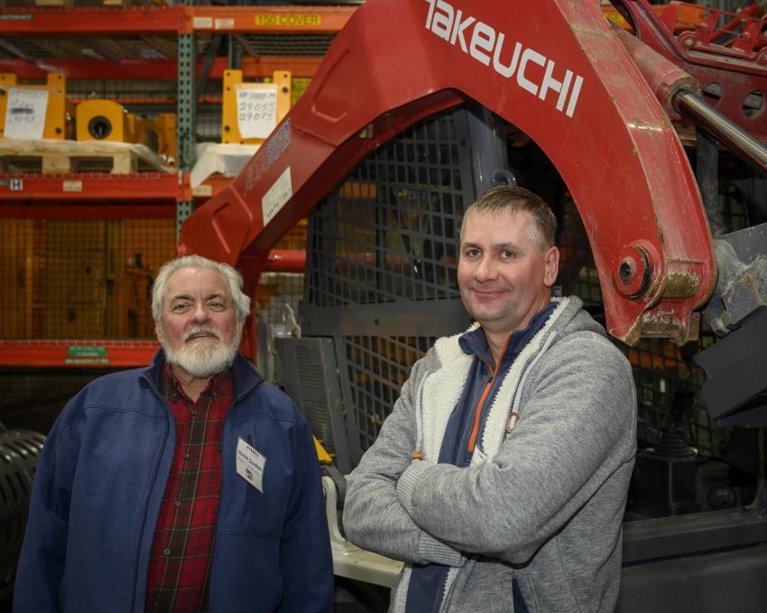 Harold Goodwin (L) and Jaroslaw Radziszewski, both of Mizzy Construction.