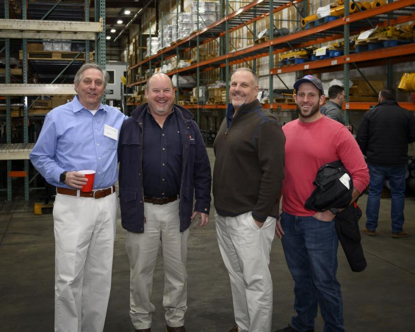 (L-R) are Mike Fischer of Indeco; Carl Roderick of Clark Company; and Lou and Joe Cavaliere.