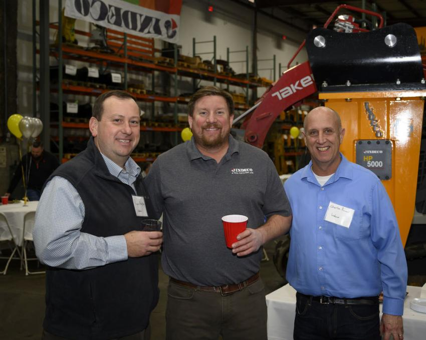 (L-R) are Ryan Murphy, Josh Sassenger and Charlie Ameer, all of Indeco.