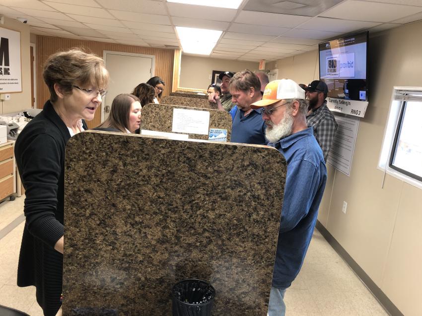 Sheryl Clark registers Brian Barnwell of JTS in Hendersonville, N.C.