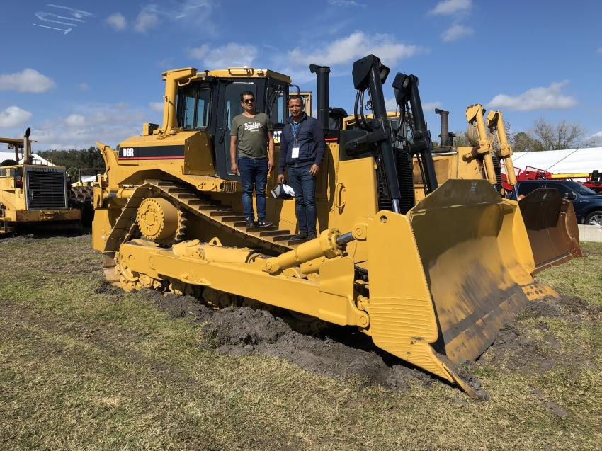 Jimmy Villabos (L) and Fernando Contreras of V&C Mining in Colombia liked what they saw in the Cat D8R and planned to bid on it.