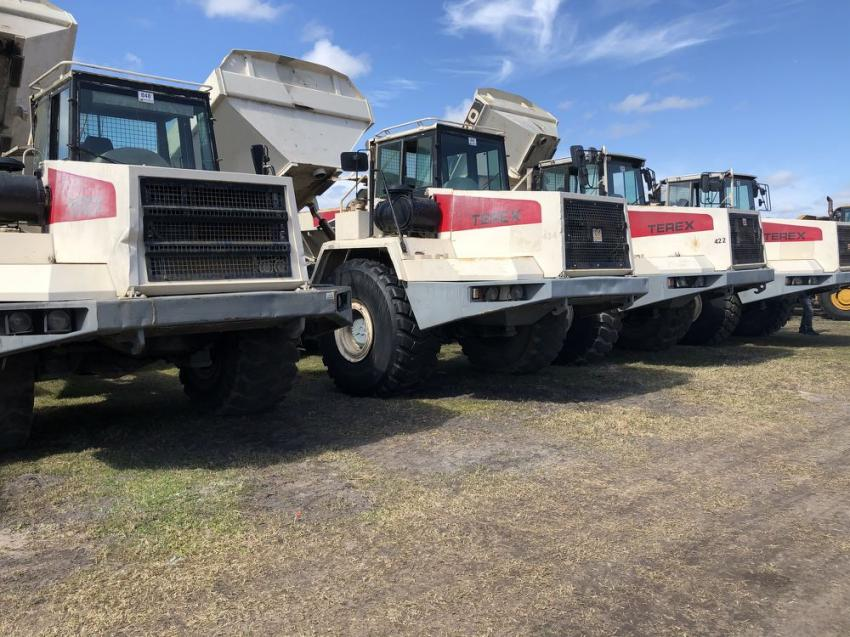 This set of Terex 40-ton artic trucks were sold to a contractor in Virginia.