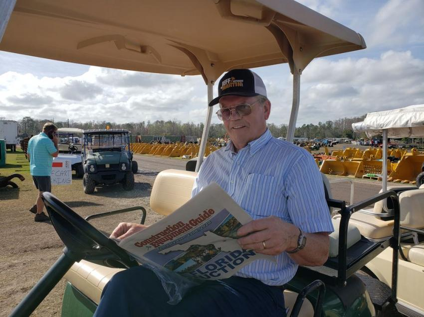 Richard Gray of Gray Construction takes some time to peruse Construction Equipment Guide's annual Florida Auction preview edition.