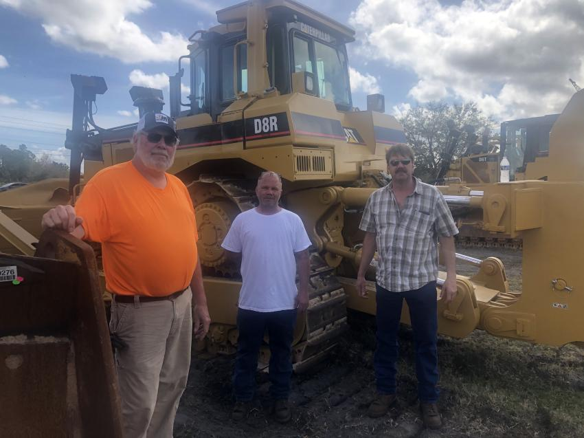 (L-R) are  Jerry Glessner, owner of Jerry's Trucking and Excavating in Lewisville, Ohio; Josh Carter, mechanic driver and operator of Larson Trucking in Jeffersonville, Ohio; and Jared Larson, owner of Larson Trucking in Jeffersonville, Ohio.