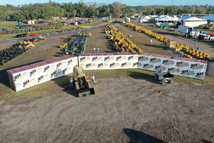 The staging area of Jeff Martin Auctioneers' Kissimmee sale was always a flurry of activity.
