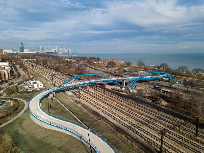 Special purpose merit winner: 41st Street Pedestrian Bridge, Chicago (Chicago DOT photo)