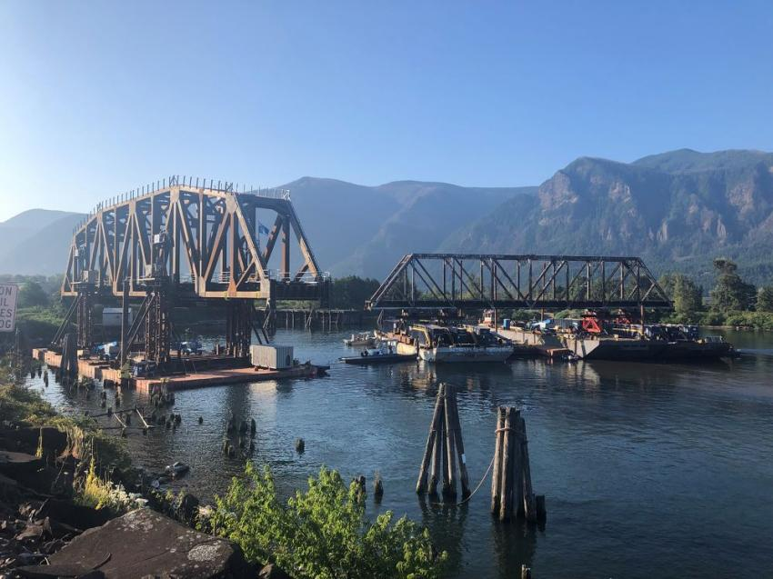 Reconstructed (new structure on same alignment) national winner: BNSF Wind River Bridge, Skamania County, Wash. (Jeff Jobe photo)