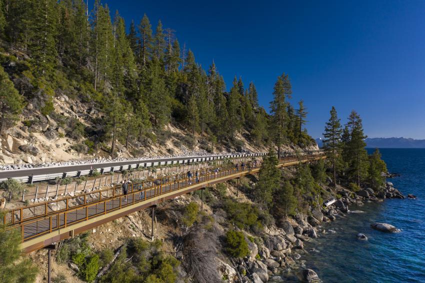 Special purpose merit winner: East Shore Trail Bridge, Lake Tahoe, Nev. (Mike Okimoto photo)