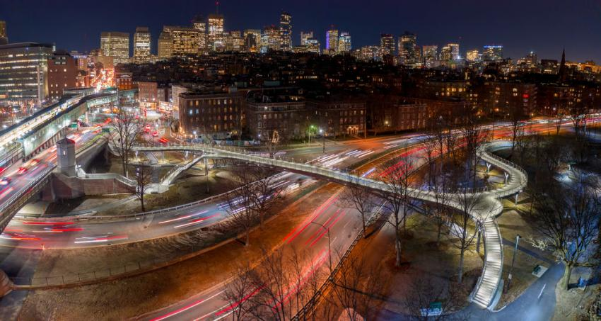 Special purpose national winner: Frances Appleton Pedestrian Bridge, Boston (Juan Navarro photo)