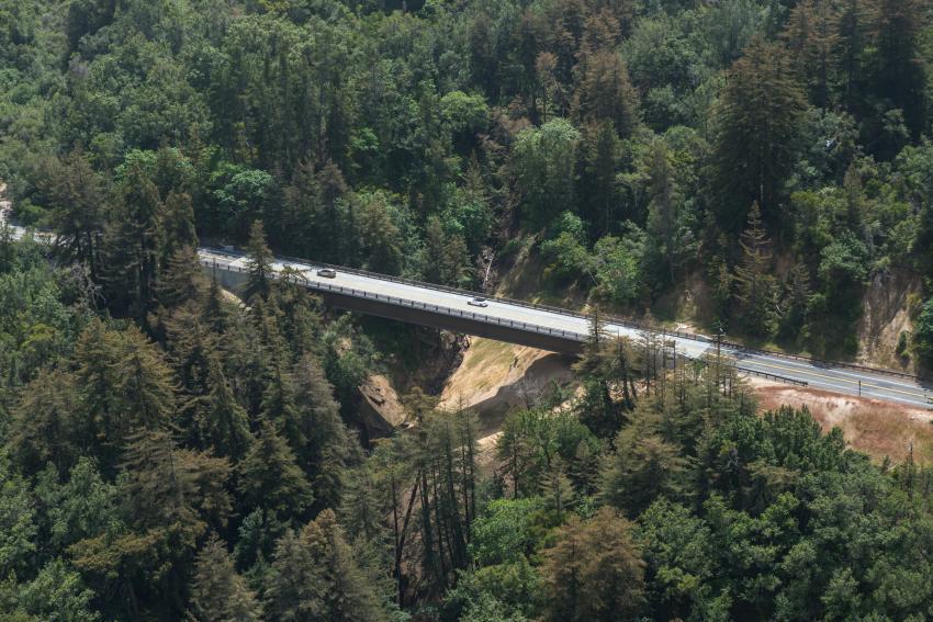 Long span merit winner: Pfeiffer Canyon Bridge, Big Sur, Calif. (Caltrans photo)