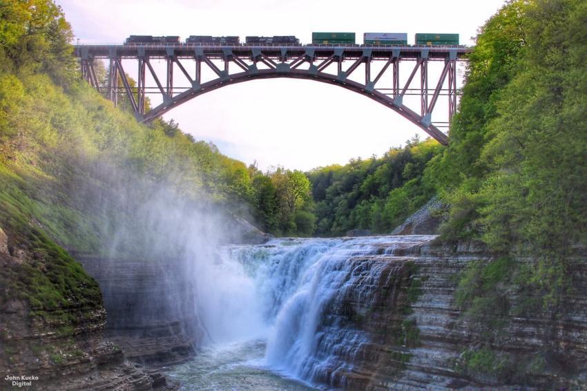 Major span merit winner: Portageville Bridge Replacement, Portageville, N.Y. (John Kutcho photo)